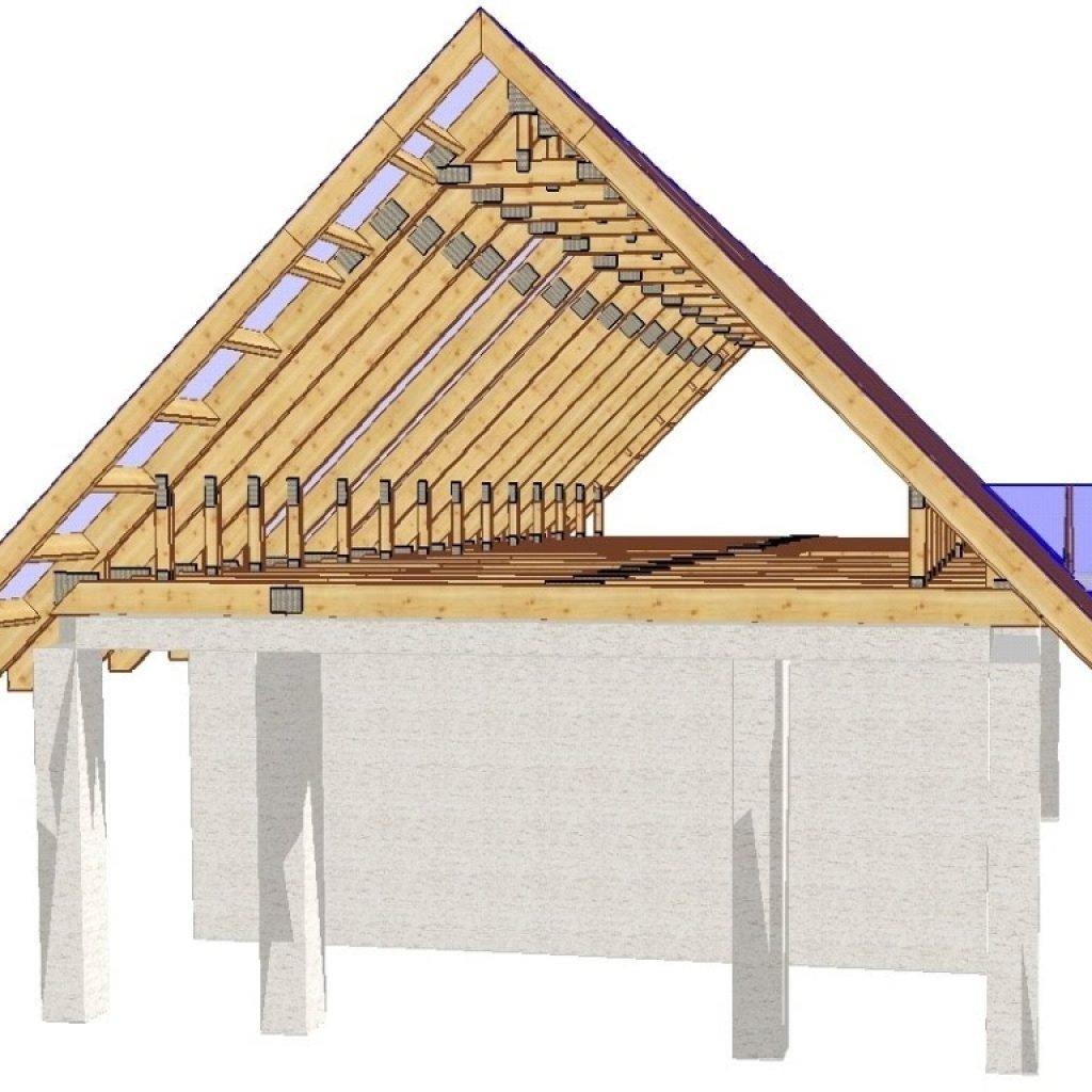 Двухскатная крыша на дом своими руками