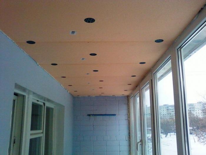 Как на лоджии сделать потолок 894