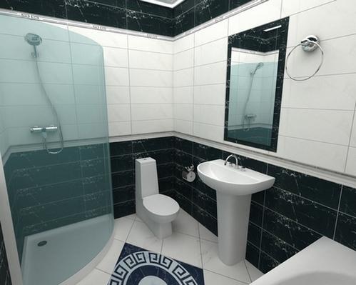 Layout orizzontale e verticale delle mattonelle in bagno